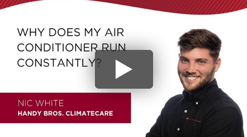 Air conditioner constantly running